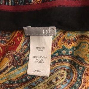 J Jill gorgeous rayon/silk multi paisley scarf